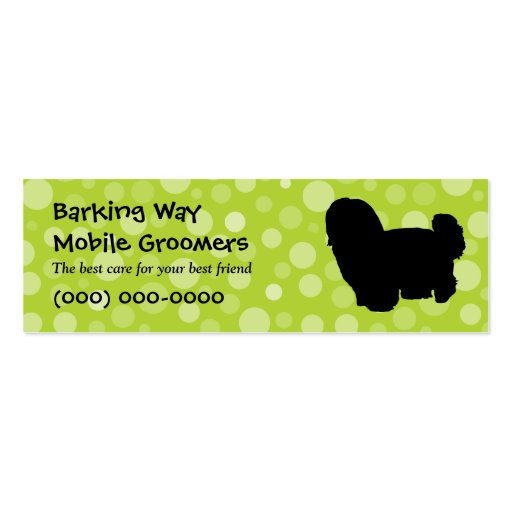 Maltese Pet Care Lime Business Card