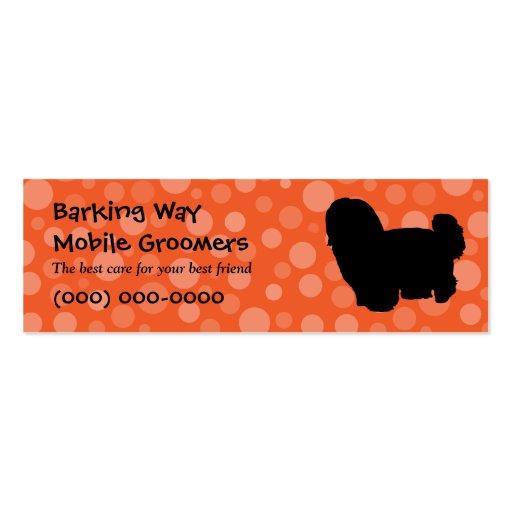 Maltese Pet Care Orange Business Card Templates