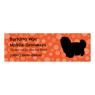 Maltese Pet Care Orange Mini Business Card