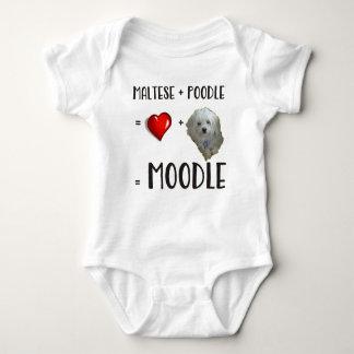 Maltese + Poodle = Moodle Baby Bodysuit