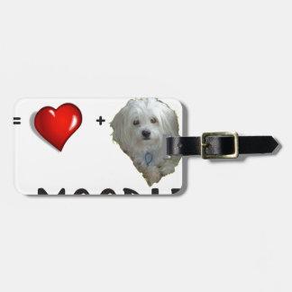 Maltese + Poodle = Moodle Luggage Tag
