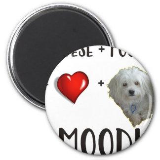 Maltese + Poodle = Moodle Magnet