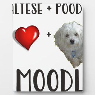 Maltese + Poodle = Moodle Plaque