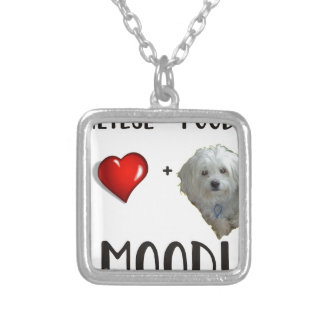 Maltese + Poodle = Moodle Silver Plated Necklace