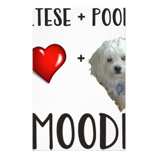 Maltese + Poodle = Moodle Stationery