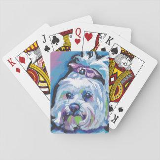 Maltese Pop Dog  Art Poker Deck