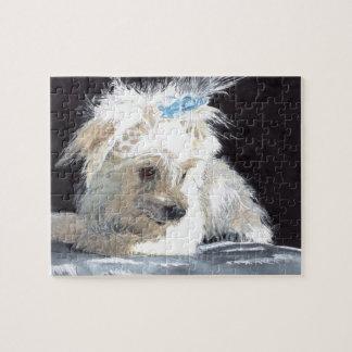 Maltese Puppy Jigsaw Puzzle