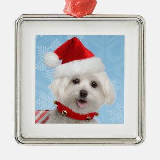 Maltese Puppy Premium Ornament
