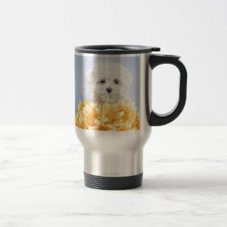 Maltese puppy travel mug
