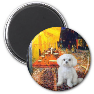 Maltese (R) - Terrace Cafe 2 Inch Round Magnet