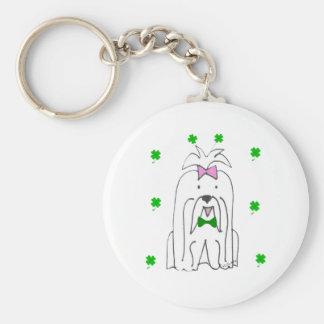 Maltese Saint Patricks Day Basic Round Button Keychain