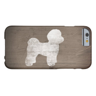 Maltese Silhouette Rustic Barely There iPhone 6 Case