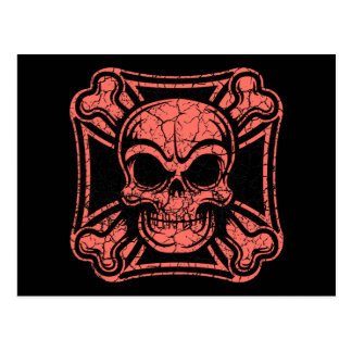Maltese Skull & Crossbones -red Postcard