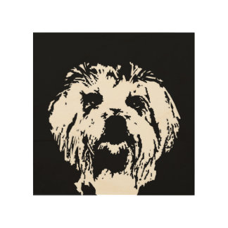 "Maltese Stencil Wood 8""x8"" Wall Art"