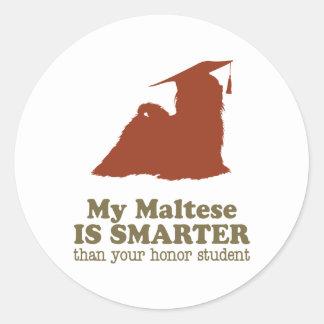 Maltese Round Stickers