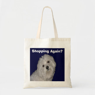 Maltese Tote Bag for Men/Women on White/Blue
