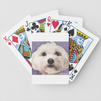 Maltipoo Bicycle Playing Cards