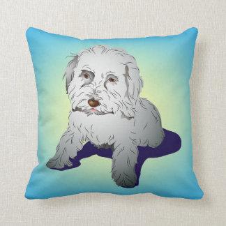 Maltipoo Cute Puppy Throw Pillow