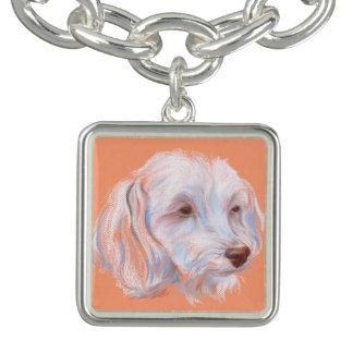 Maltipoo Dog Pastel Art Bracelet
