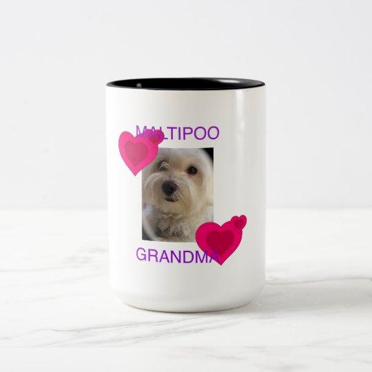 Maltipoo Grandma Two-Tone Coffee Mug