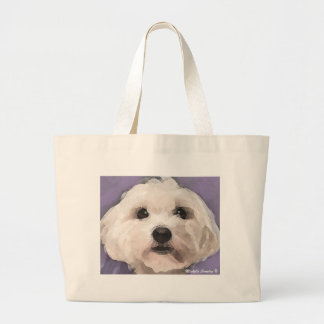 Maltipoo Large Tote Bag