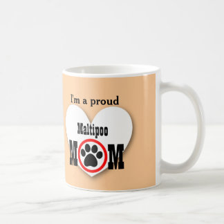 MALTIPOO Mom Dog Lover Paw Print Gift B08 Coffee Mug