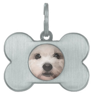 Maltipoo Pet ID Tag