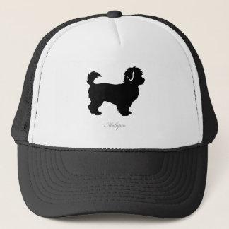 Maltipoo silhouette trucker hat