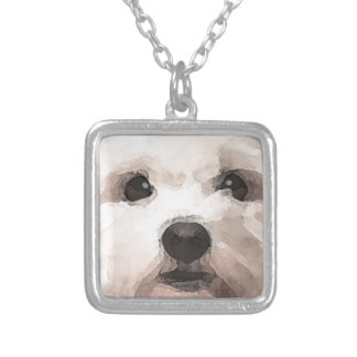 Maltipoo Silver Plated Necklace