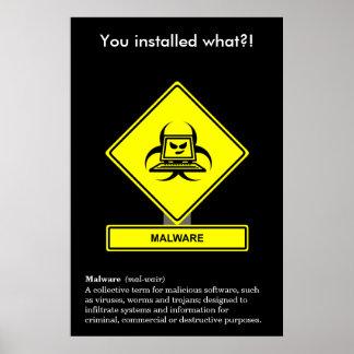 Malware Security Awareness Poster