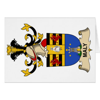 Maly Family Crest Card