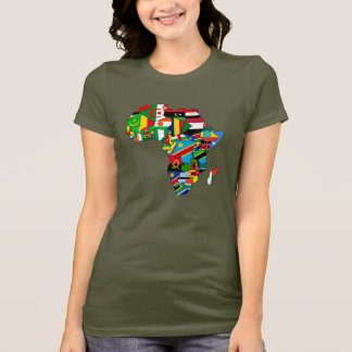Mama Africa womens flag map of Africa African gift T-Shirt