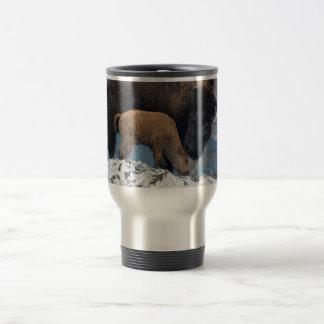 Mama and Baby Bison Travel Mug