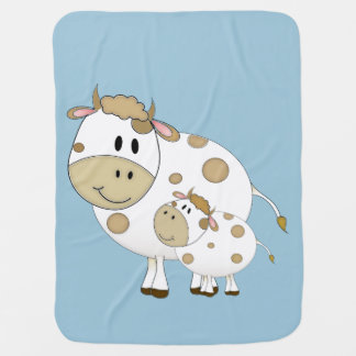 Mama and Baby Cows Swaddle Blankets