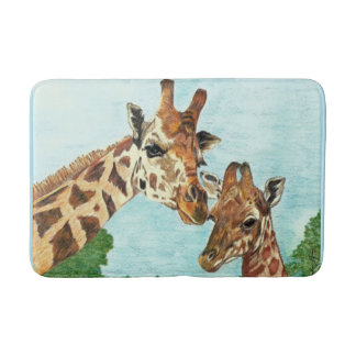 Mama and Baby Giraffe Bath Mat