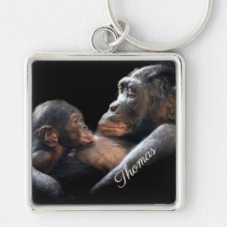 Mama and Baby Gorilla Keychain