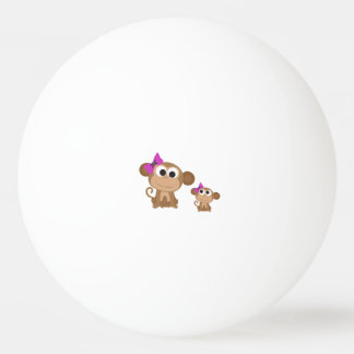 Mama and baby monkey ping pong ball