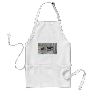 Mama and Baby Moose Standard Apron