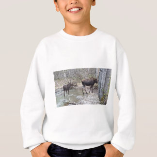 Mama and Baby Moose Sweatshirt