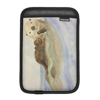 Mama and baby otters iPad mini sleeve