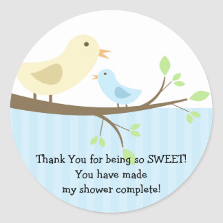 Mama & Baby Bird Baby Shower Sticker