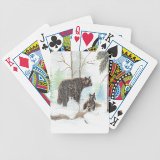 Mama Bear and Baby Poker Deck