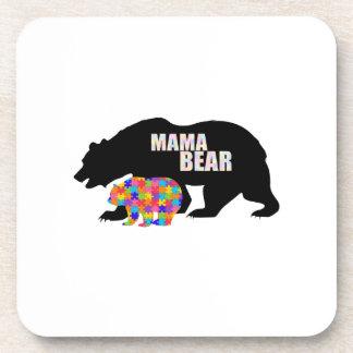 Mama Bear Autism Awareness Suppor Coaster