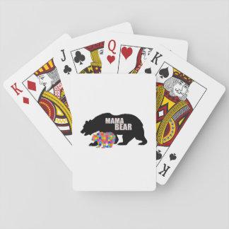 Mama Bear Autism Awareness Suppor Playing Cards