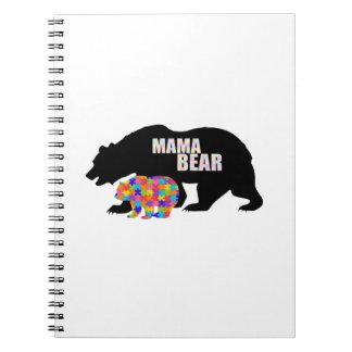 Mama Bear Autism Awareness Suppor Spiral Notebook
