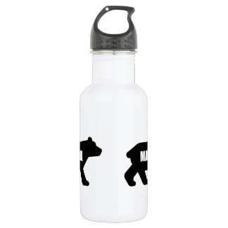 Mama Bear Black 532 Ml Water Bottle