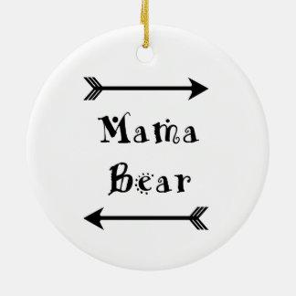 Mama Bear Ceramic Ornament