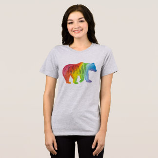Mama Bear Family Pride Watercolor Relaxed Fit Tee