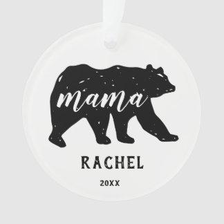 Mama Bear Forest Animal Family Holiday Ornaments