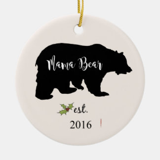 mama bear ornament, mom christmas ornament, ceramic ornament